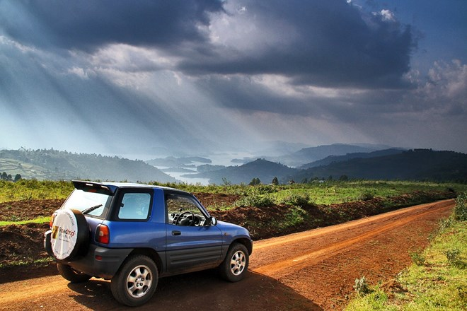 The 3-door Toyota RAV4, the most budget car to rent for your safari in Uganda