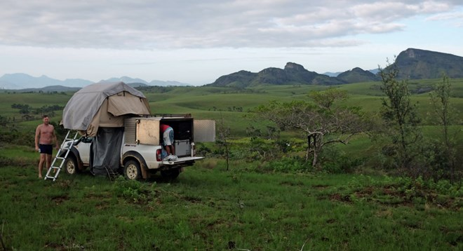 Camping with rooftop tent with Roadtrip Madagascar