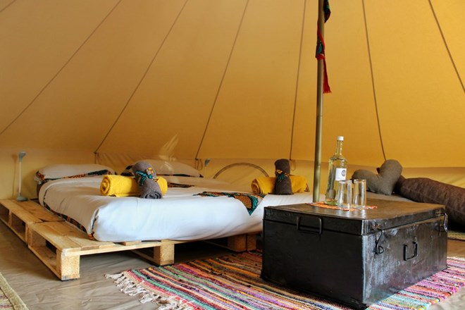 Glamping tents in Entebbe