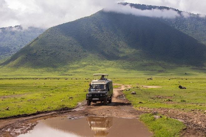 Self driving the Ngorongoro Crater in Tanzania